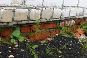 строительная экспертиза - разрушение отмостки