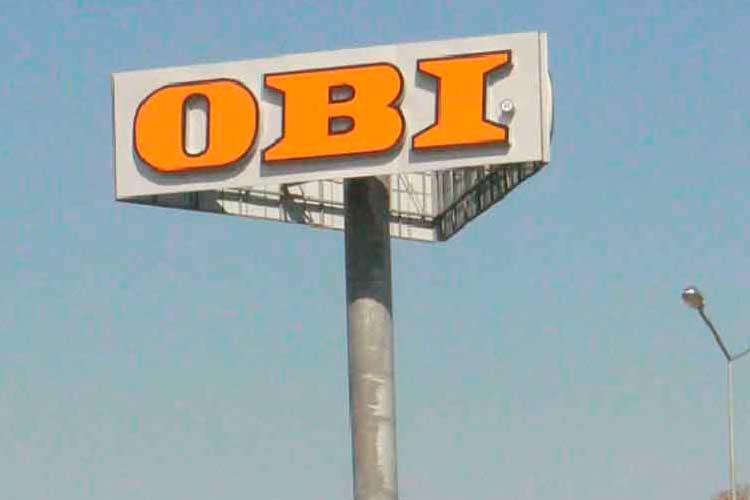 Обследование рекламного пилона магазина OBI