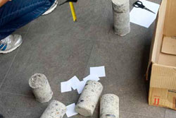 обследование фундамента - отбор образцов материала