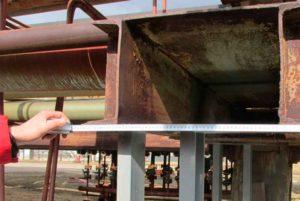 Обследование металлических частей эстакады