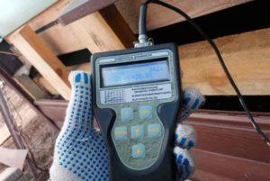 исследование влажности деревянного дома