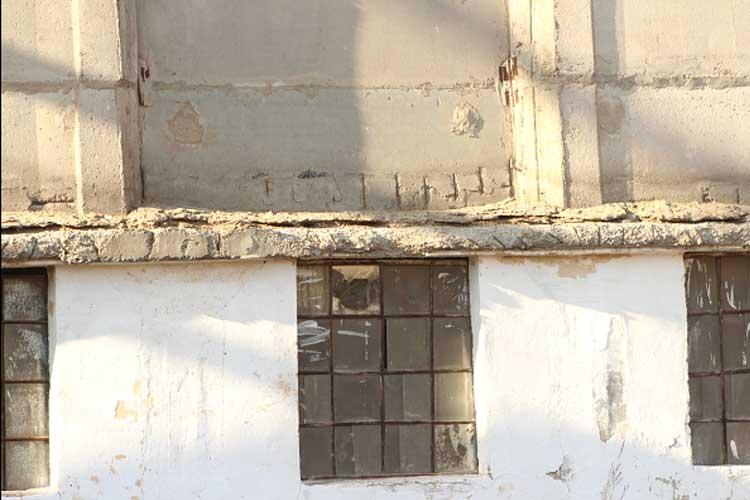 обследование стен силоса